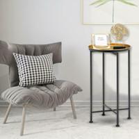 Конечная таблица, складной металлический диван бокового стола закусок журнальный столик со съемным лотком