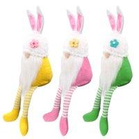 Ostern Niedliche Gesichtslose Fachlose Kaninchen Spielzeug für Mädchen Lange Beine Häschen Gnome Decor Puppen Nette Mädchen Raum Plüsch Home Party Dekorationen Geburtstagsgeschenk