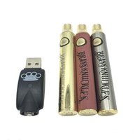 BK 배터리 황동 너클 배터리 650mAh 900mAh E 담배 vape 펜 배터리 두꺼운 오일 카트리지 510thread 용 배터리