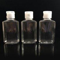 Bouteille rechargeable en plastique de 60 ml facile à transporter des bouteilles de désinfectant en plastique transparent transparent transparent
