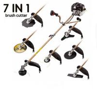 Nouveau modèle Tuyaux de jardin de jardin 52CC 2 coups de coupe de l'herbe à arbre de coupe, coup de fosseur de coupure de brosse avec lames métalliques, têtes de nylon
