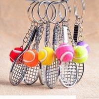 Tenis Raket Anahtarlık Sevimli Spor Mini Anahtarlık Araba 6 Renk Araba Çanta Kolye Anahtar Yüzükler Spor Anahtarlık Kime Spor Takı Hediyeler