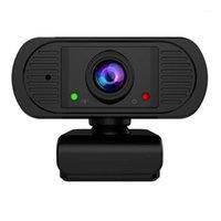 HD 1080P 30FPS Webcam USB Computer Camera Câmera integrada da Web do microfone para o YouTube PC Laptop1