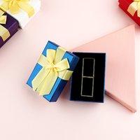 Caja de envoltura de lápiz labial de San Valentín Rosa rosa blanco Joyería de lápiz labial Tienda de lápiz labial Caja de regalo con gran Bowknot YYB3884
