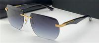 نظارات موضة جديدة تصميم النظارات الشمسية الفنان الثاني مضلع بدون شفة إطار سخي نمط الراقية uv400 عدسة حماية