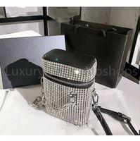 Высочайшее качество дизайнерские женщины хрустальные диамантные сумки 2021 металлические бусины сумки на плечо блеск бриллианты леди цепи поперечины сумка ведро