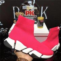 En Kaliteli Luxurys Tasarımcılar Ayakkabı Pairs Erkekler Kadın Çorap Hız 2.0 Eğitmen Triple S Sneakers Erkek Bayan Açık Platformu Yumuşak Nefes Boost Eğitmenler Kutusu Ile