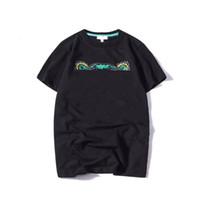 19SS лето футболка животных головы буквы вышивка мужчины футболки футболки мода с коротким рукавом женщины футболка уличная одежда S-2xL