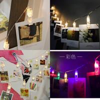 Lámpara decorativa Noche Market Lámparas String LED LED Photograph Fot Fotografía Control de carpeta Navidad 8 3L N2
