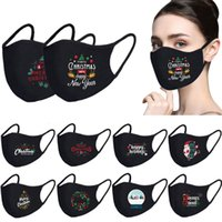 Face Mask Merry Christmas Santa Snowman Breathable fashion face masks dust Fog Pure Black Blank facemask HH9-3622