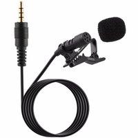 Mini condensatore Microfono Microfono da 3,5 mm Tie Bavero Clip Lavalier sul doppio microfono per lezioni interviste da insegnamento