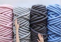 500g / pcs grosso fio chunky para tricô de mão diy crochet anti plebeing animal de estimação gato cão canil tecer tapete cama de cão cobertor travesseiro fio