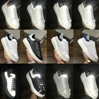 2021 мужские женские тренажеры отражающие 3М белые кожаные платформы кроссовки женщин мужская плоская повседневная вечеринка свадебные туфли замшевые спортивные кроссовки