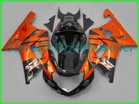 Custom Orange Black AE029 Kit de Feira para Suzuki GSXR 600 750 K1 2001 2002 2003 GSXR600 GSXR750 01 02 03 Motocicleta Fairings Kit