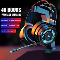 Fones de ouvido de jogo com Mic PC Professional Gaming Headset USB Fones de ouvido com fio Surround Som Estéreo para Pubg Xbox PS4 Game