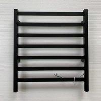 Estilo popular aço inoxidável 304 matt preto aquecido toalha de toalha elétrica toalha de toalha aquecedor de toalhas de toalhas de toalheiro ferroviário 918 T200916