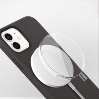 MAGSAFE Şarj Cihazı Koruyucu Durumda Şeffaf PC Darbeye Anti-sonbahar Kapak için iPhone 12 Için Kablosuz Şarj Magsaafe Manyetik Şarj Cihazı