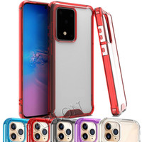 Clear Acrylic TPU PC Hard Shockproof Case for iPhone 12 Mini 11 Pro Max XR XS 6 7 8 Plus Samsung Note 20 Ultra S20 FE A21S A31 A51 A42 A71