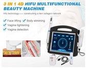 Portable Vangina Blighting 4D Hifu Machine 3 в 1 Морщина для подъем лица для лица для лица для лица для похудения Женская частная уход с 5 картриджами