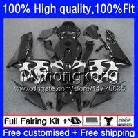 Injection For HONDA CBR 600RR CBR600F5 CBR600RR 2005 2006 48HM.254 CBR600 RR 05-06 CBR 600 Black white CC 600F5 600CC F5 05 06 OEM Fairing
