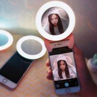 USB 충전 셀카 휴대용 플래시 LED 카메라 전화 링 빛 향상 사진 셀카 휴대 전화에 대 한 채우기 빛