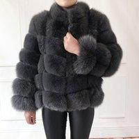 100% истинная шуба женская теплая и стильная и стильная натуральная лиська меховая куртка жилет стенд воротник с длинным рукавом кожаные пальто натуральные меховые пальто 201111