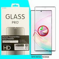 3D Kavisli Kenar Tam Kapak Temperli Cam Koruyucu Samsung Galaxy S21 S20 Note20 S10 Artı Ultra S8 S9 Note8 NOT9 Perakende Kutusunda