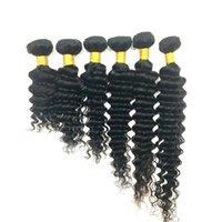 Brasilianisches menschliches Haar Webart Jungfrau Haarbündel Tiefwelle lockige Füße 8-34inch Unverarbeitete malaysische peruanische indische menschliche Haarverlängerungen