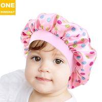 9 Renkler Moda Çocuk Bonnet Kız Saten Gece Uyku Duş Kap Saç Bakımı Yumuşak Kap Kafa Kapak Wrap Beanies Kafatası Kap Bebek G12302