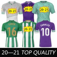 20 21 Jersey de football de Betis Joaquin B.iglesias Juanmi Fekir Bartra 1998 Canales rétro Jerseys Hommes + Kids Kits Football Shirts Formation