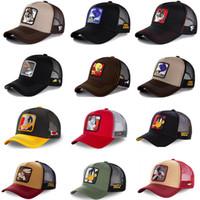 Yaz Unisex Hip Hop Işlemeli Hayvan Erkekler Beyzbol Kapaklar Kadınlar Nefes Örgü Snapback Şapkalar erkek Kamyon Şapka Şapka Kap
