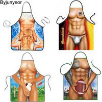 3D Grembiuli divertenti Sexy Muscle Man Donna Grembiule Dinner Bbq Partito Cooking Grembiule Adulto Accessori per adulti Accessori Divertenti Regali da uomo CS271