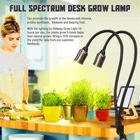 Hohe Qualität 24 Watt dimmbar Zwei-Kopf-flacher Clip-Mais Grow-Lichter volles Spektrum warmweiß Pflanzenlicht für Innenpflanzen