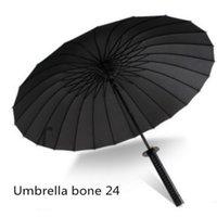 Подарок Творческий Длинный Японский Самурайский Меч Прямая Ручка Ветровка Человек Анимированный Зонт 201111