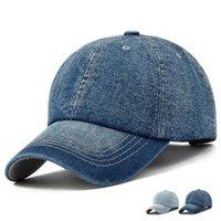 Unisex Solid Denim Baseballkappe leer gewaschene Jean Hut Casquette Justierbare Snapback Hüte Mützen für Männer und Frauen
