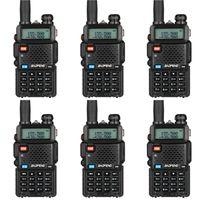 Walkie Talkie 6PCS BAOFENG UV-5R يصل إلى 128 قنوات FM الإرسال والاستقبال Dual-Band DTMF ذاكرة