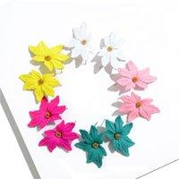 Stud Chenfan Mädchen Herz Mode Spray Paint Net Rot Blütenblatt Blume Schmucksachen Damen Ohrringe Für Frauen Schmuck Kleidung Zubehör1