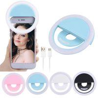 Ricarica LED Flash Beauty Fill Fill Selfie Lamp Outdoor Selfie Ring Light Ricaricabile per tutti i telefoni cellulari Spedizione gratuita