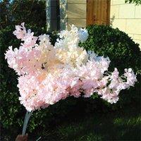 7pcs 가짜 긴 줄기 복숭아 꽃 (4 개의 줄기 / 조각) 웨딩 홈 쇼케이스 장식 인공 꽃을위한 시뮬레이션 체리