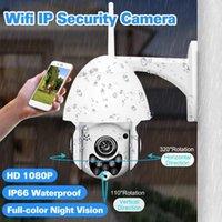 Cámaras 1080P Almacenamiento a prueba de agua Nube inalámbrico PTZ Cámara IP Cómica Cúpula CCTV Seguridad al aire libre Dos vías Audio P2P WIFI1