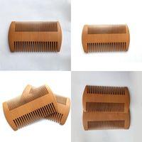Sağlık Şeftali Ahşap Tarak Masajı Knotting Sakal Tarak Önlemek Günlük Renk Cep Fırça Saç Şekillendirici Araçları Makyaj Kalın 1 85My B2