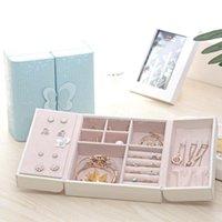 목걸이 반지 보석 상자 나비 저장 상자 디스플레이 저장 상자 상자 주최자 쥬얼리 홀더 선물 상자