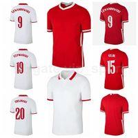Soccer 9 Robert Lewandowski Jersey 11 Grosicki 7 Zielinski 7 Milik 15 Glik 14 Klich 23 Piatek 10 Krychowiak Camisa de Futebol Kits B-L
