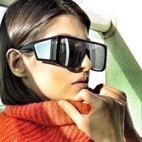 نظارات شمسية خمر المرأة النظارات المتضخم بدون شفة العلامة التجارية شفافة مصمم الذكور المألوف أنثى FML