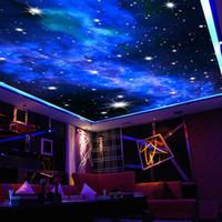 Venta al por mayor-Techo interior 3D Milgy Way Way Stars Walling Photo Photo Mural Fondo de pantalla Sala de estar Dormitorio Sofá Fondo Fondo Cubierta de pared