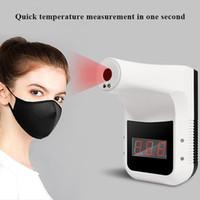 Termometro a raggio a infrarossi a parete senza contatto K3 Automatic Fronte Forehead Laser IR Misura strumento con display digitale a casa Mall Office Lacotory