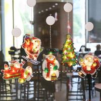 LED decorazione luci di Natale luci stringa appeso con gancio ventosa decorazione di Natale House Party in camera lanterne VETRINA Decor luce