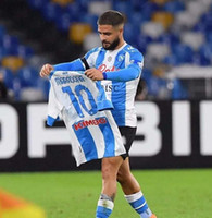 Maradona Soccer 4. Fussball Jersey 20/21 Neapel Away Soccer-Hemd 2020 Kundenspezifische # 14 Mertens # 17 Hamsik # 24 Insignente 3. Fußballuniform