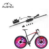 앱 제어 디스플레이 자전거 자전거 조명 지원 프로그래밍 DIY 스포크 휠 조명 USB 충전식 야간 사이클 타일 라이트 램프