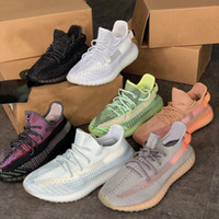 Ultime Yecheil Synth Reflective Synth Antlia Kanye West Running Shoes Gid Glow Clay Beluga 2.0 burro Semi da uomo Donne Designer Sneakers